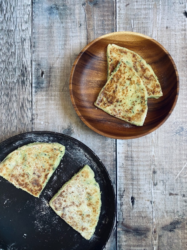 Wild Garlic Potato Farls