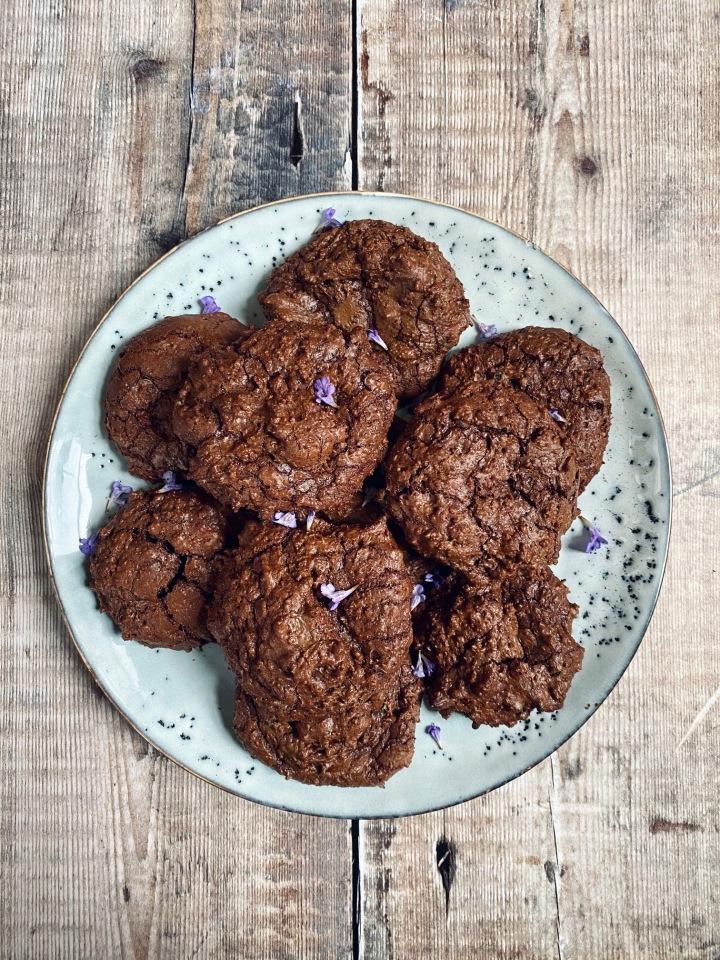 Ground Ivy Chocolate RyeCookies